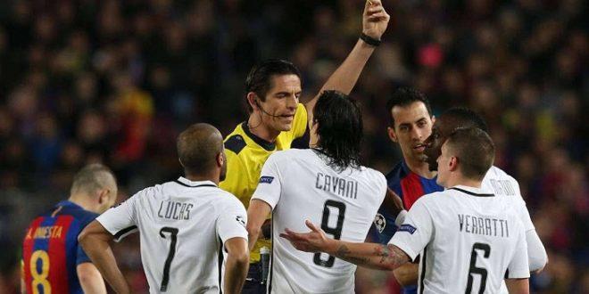«اليويفا» يعلن عن دعمه لحكم مباراة برشلونة وباريس