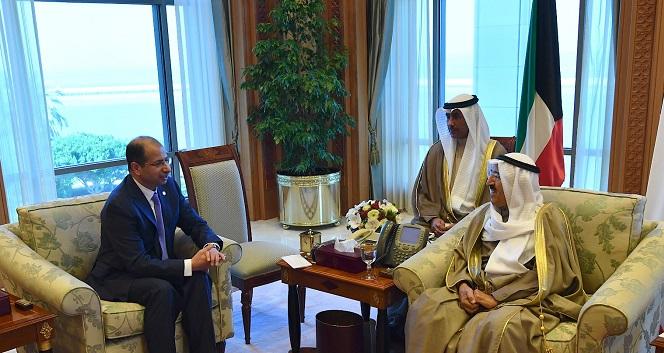 سمو الأمير يستقبل رئيس مجلس النواب العراقي