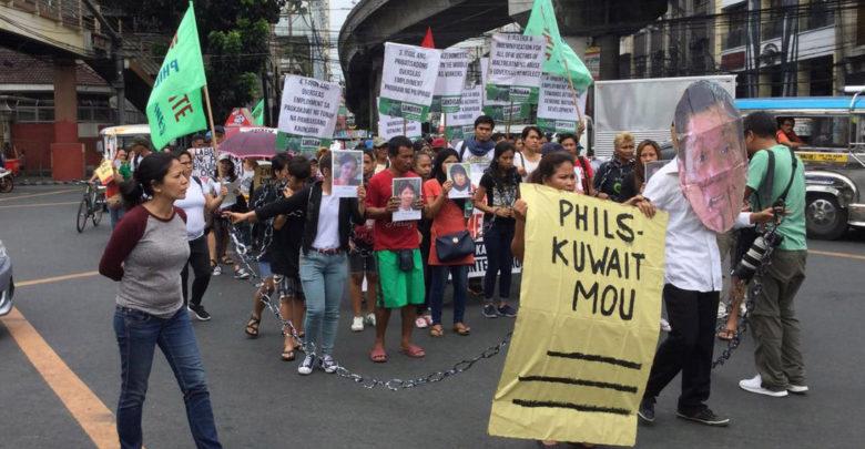 مظاهرة محدودة في الفلبين على توقيع الاتفاقية مع الكويت