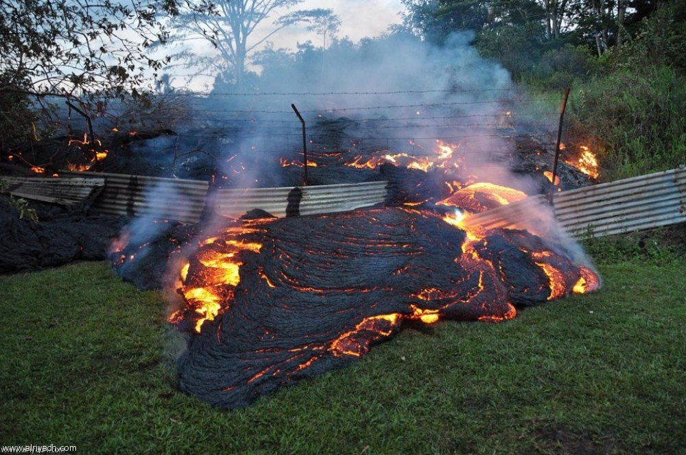 """الرئيس الامريكي يعلن رسميا ان ولاية هاواي تواجه """"كارثة كبرى"""""""