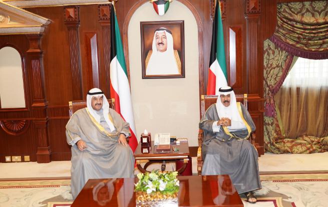 سمو نائب الأمير يستقبل سمو الشيخ ناصر المحمد