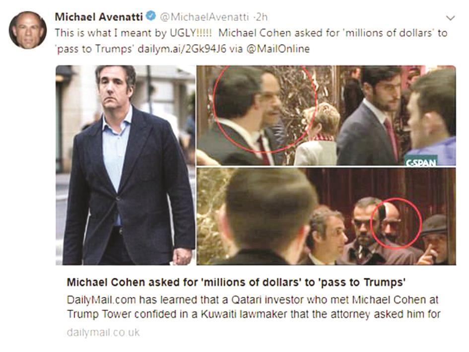 «ديلي ميل» نقلاً عن مسؤول كويتي: مُحامي ترامب طلب رشوة مليونية من مسؤول قطري