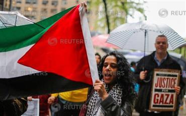 مظاهرات فى نيويورك احتجاجا على «مجازر الاحتلال».. ونقل سفارة أمريكا إلى القدس