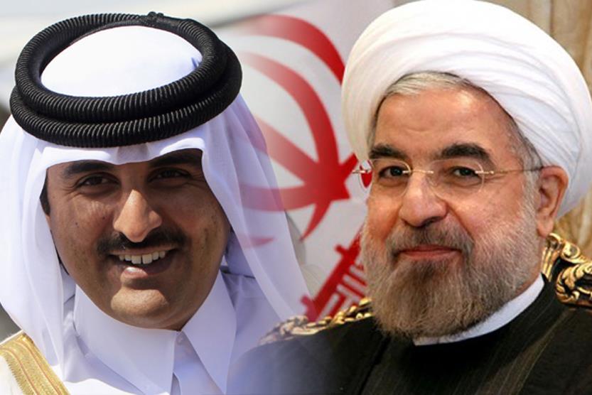 أمير قطر يشكر إيران على دعمها بلاده في أزمة الخليج