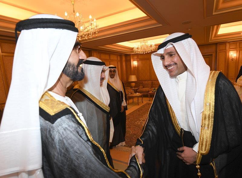 سمو الأمير يستقبل الشيخ محمد بن راشد
