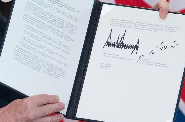 النص الحرفي لـ «وثيقة سنغافورة» بين ترامب وكيم