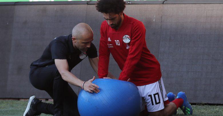 صلاح يشارك في تمرين جماعي مع المنتخب المصري
