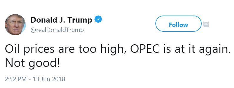 ترامب يتهم «أوبك» برفع أسعار النفط