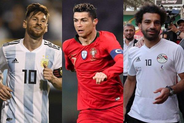 5 لاعبين بينهم محمد صلاح يتنافسون على جائزة هداف كأس العالم