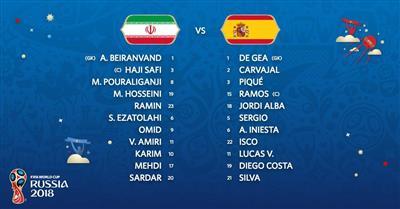 انطلاق مباراة اسبانيا وإيران