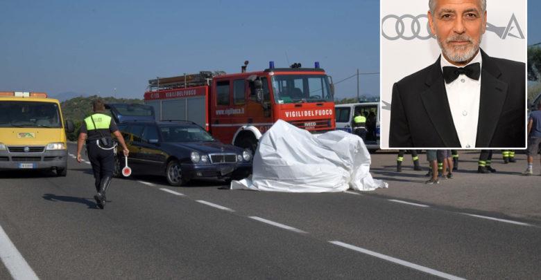 نقل جورج كلوني إلى المستشفى بعد إصابته حادث سير