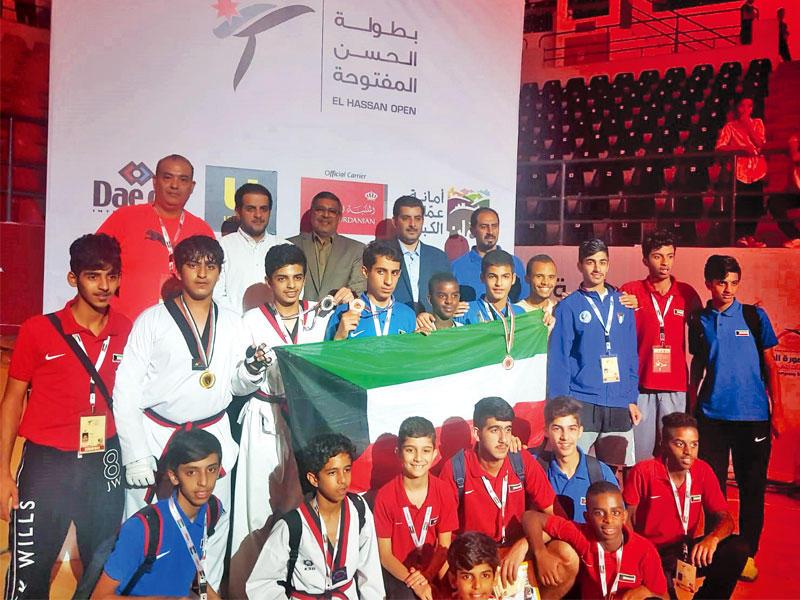 منتخب التايكوندو يحقق 10 ميداليات في بطولة دولية بالأردن