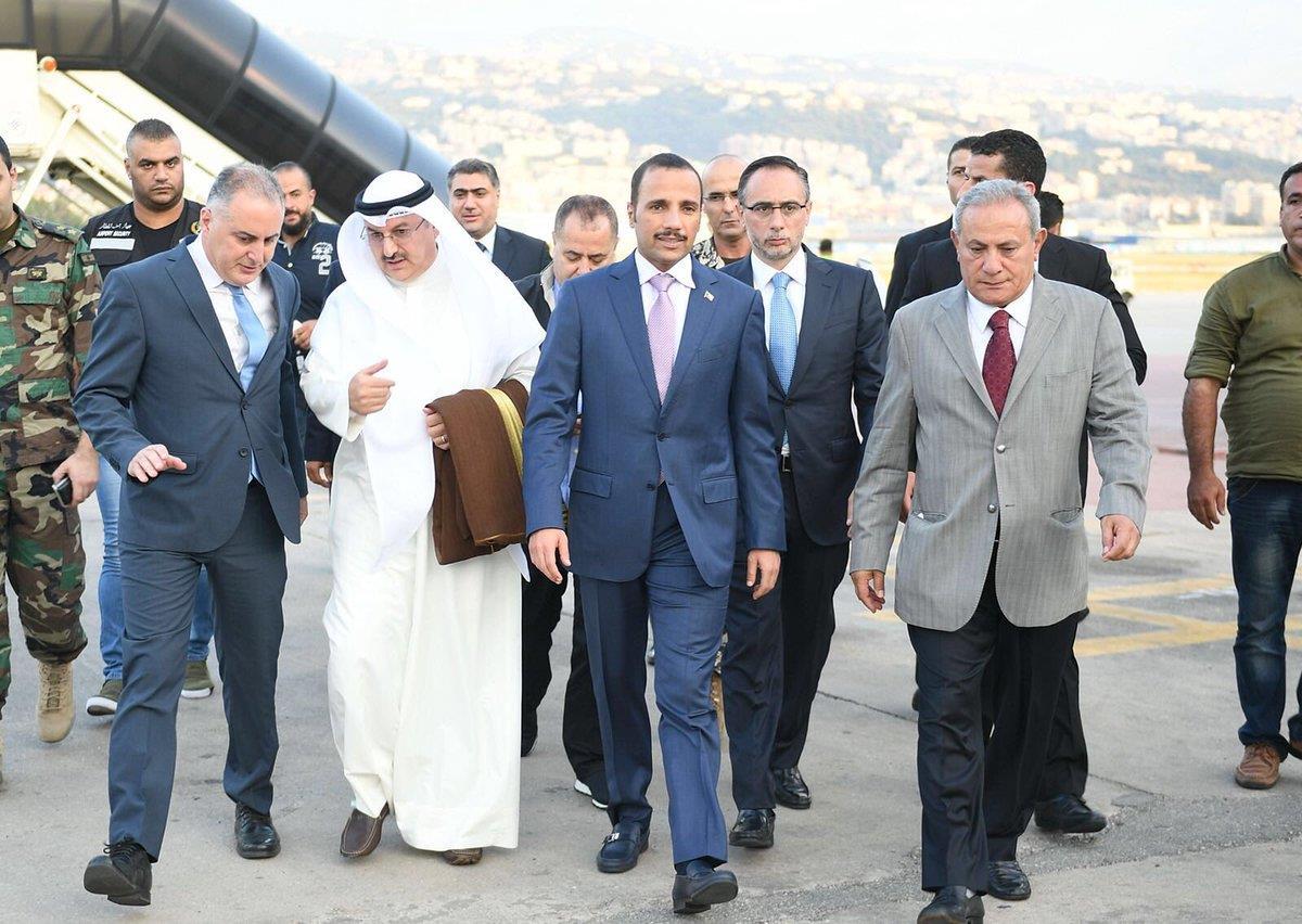 الرئيس الغانم يصل إلى بيروت للمشاركة في منتدى الاقتصاد العربي