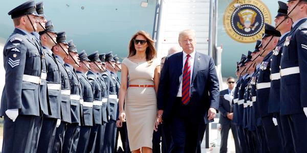ترامب يصل لندن.. في أول زيارة لـ «النقطة الساخنة» منذ توليه منصبه