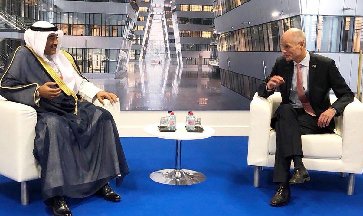 صباح الخالد بحث سبل تعزيز العلاقات مع وزير خارجية هولندا