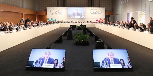 مجموعة العشرين تدعو إلى حوار أكبر بشأن التوترات التجارية