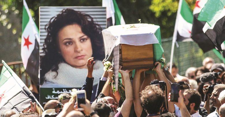 تشييع جثمان الفنانة السورية المعارضة مي سكاف في باريس