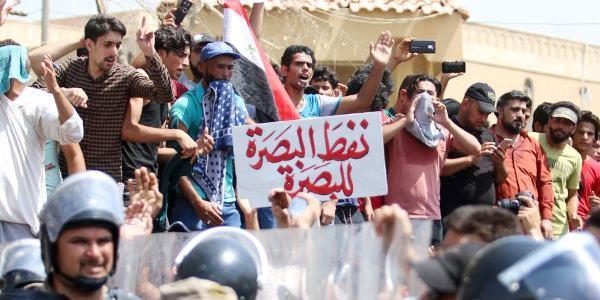مسيرة احتجاجية في محافظة البصرة العراقية للمطالبة بتحسين الخدمات