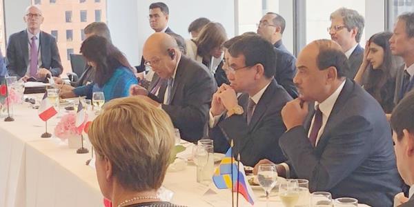 وزير الخارجية يشارك في غداء عمل بنيويورك لمناقشة أزمة مسلمي الروهينغيا
