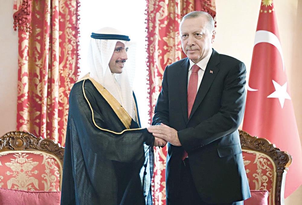 رسالة من الأمير إلى أردوغان لحل الخلافات السياسية في المنطقة