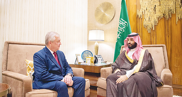 محمد بن سلمان يستقبل الموفد الروسي إلى سوريا