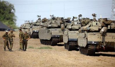 إسرائيل تعزز نشر قواتها المدرعة على حدود غزة.. رداً على إطلاق صاروخ فلسطيني