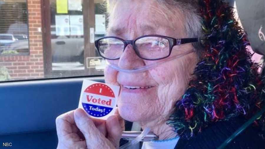 عجوز أميركية صوتت لأول مرة بحياتها.. فكانت الأخيرة