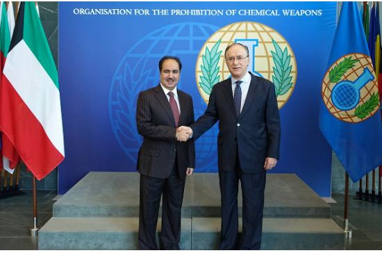 السفير العتيبي يقدم أوراق اعتماده الى المدير العام لمنظمة حظر الأسلحة الكيماوية