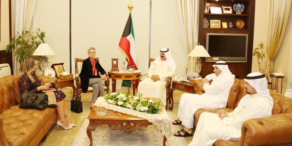 الجارالله لنائب ممثل الأمين العام للأمم المتحدة في العراق: تكثيف الجهود لإنهاء ملف المفقودين الكويتيين