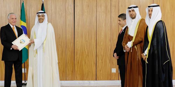 السفير المطيري يقدم أوراق اعتماده سفيرا للكويت لدى البرازيل