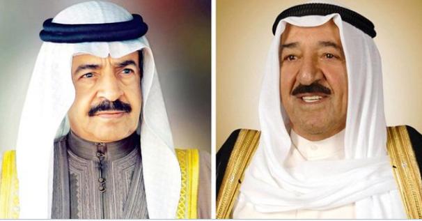 سمو أمير البلاد يهنئ رئيس وزراء البحرين