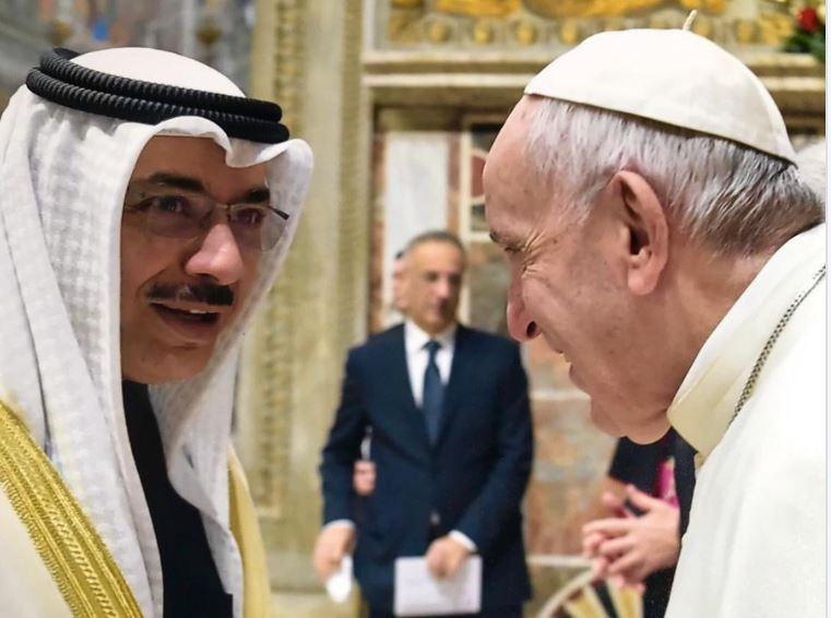 بابا الفاتيكان يثمن جهود سمو الأمير في اعلاء مبادئ الحوار والتعاون