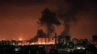 الطيران الإسرائيلي يقصف موقعين شرق غزة
