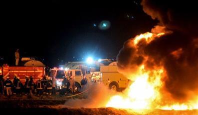 ارتفاع ضحايا حريق أنبوب نفط في المكسيك لـ 73 قتيلًا