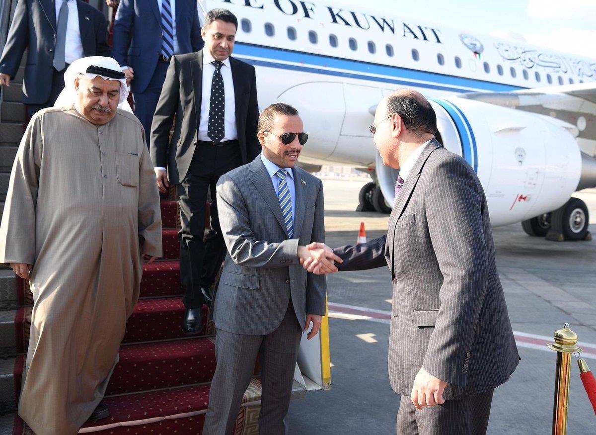 الغانم يصل إلى القاهرة لحضور اجتماع رؤساء البرلمانات العربية