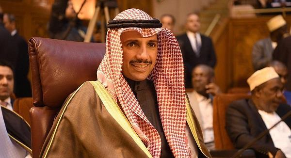 الغانم يغادر القاهرة بعد مشاركته في اجتماع مع البرلمان العربي