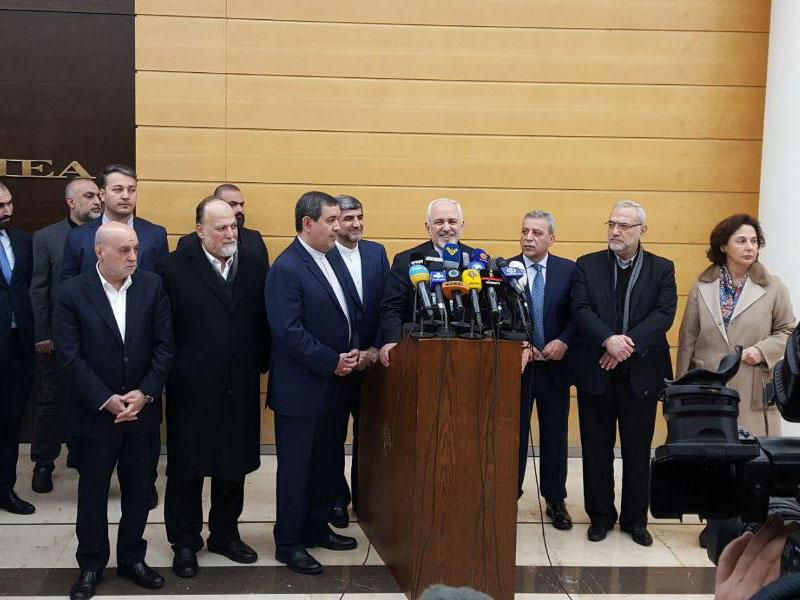 ظريف دعا لبنان إلى اعتراض غارات إسرائيل على سورية