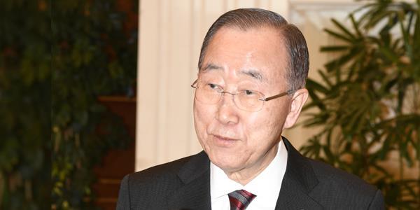 بان كي مون: دور سمو الأمير القيادي في العمل الإنساني والوساطة بالنزاعات محل تقدير بالغ