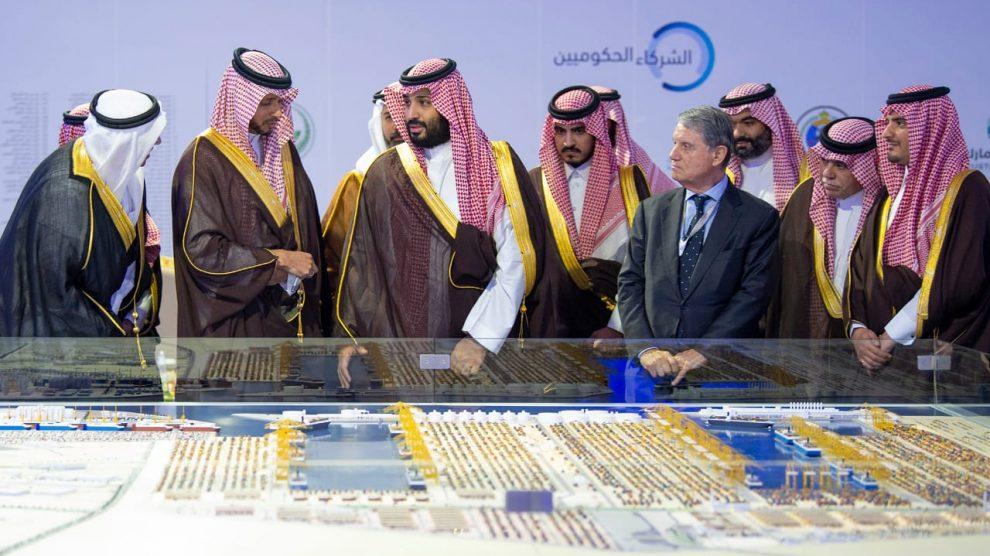 ولي العهد السعودي يدشن ميناء الملك عبدالله بمحافظة رابغ السعودية