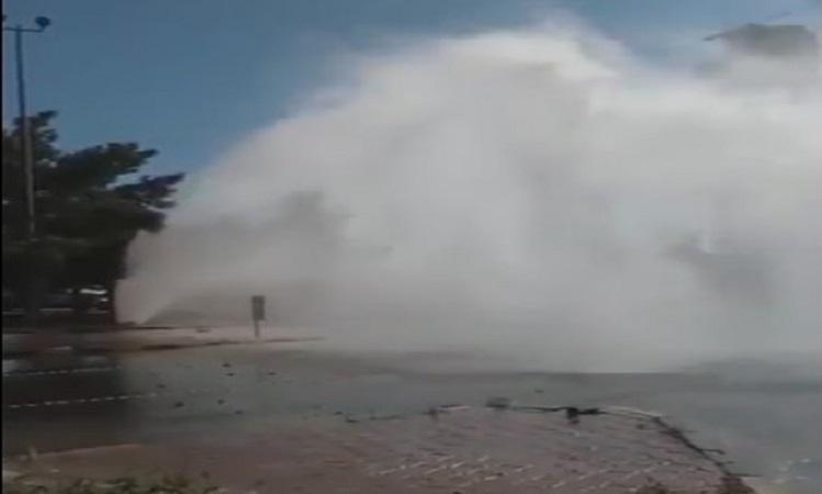 """""""الكهرباء"""" ترد على فيديو انفجار بايب المياه قرب الشعب"""