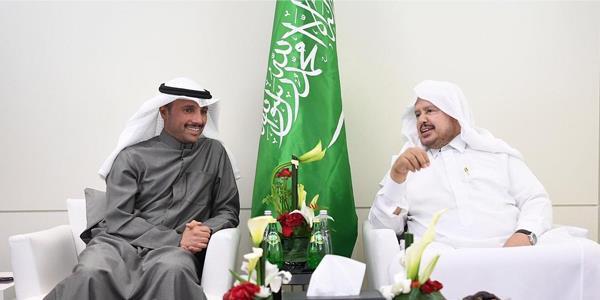 الغانم يجتمع في الرباط مع رئيس مجلس الشورى السعودي