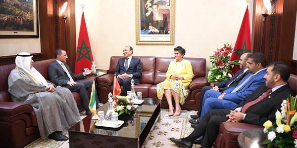 رئيس مجلس الأمة يعقد مباحثات مع رئيس مجلس النواب المغربي