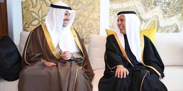 الغانم ينسق ورئيس مجلس الشورى القطري حول قضايا «البرلماني الدولي»