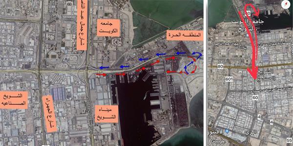 افتتاح جسر طريق الغزالي فجر غد الجمعة