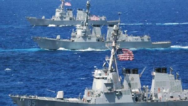 تدريب للبحرية الأميركية والفرنسية والبريطانية على إزالة ألغام في الخليج