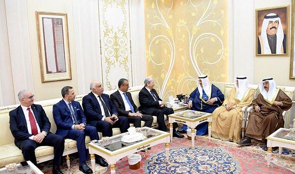 ناصر المحمد يستقبل رئيس مجلس النواب التونسي