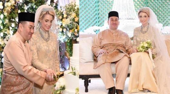 زفاف أسطوري لولي العهد الماليزي على حسناء سويدية
