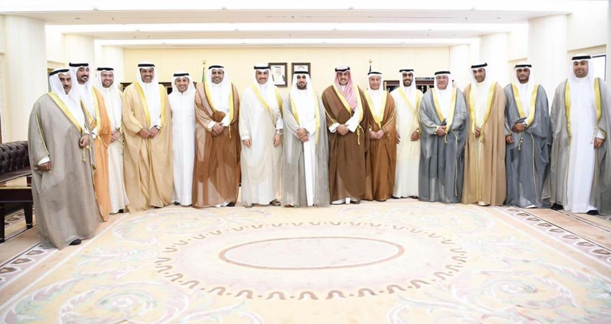الغانم يستقبل الجبري وأعضاء اللجنة الأولمبية الكويتية