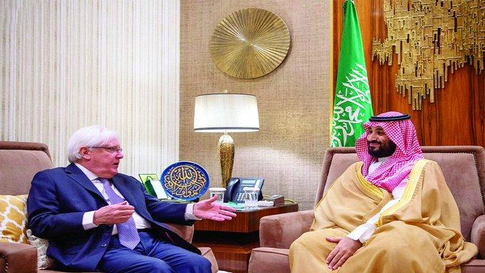 """المبعوث الأممي لليمن يهنئ ولي العهد السعودي بـ """"اتفاق الرياض"""""""