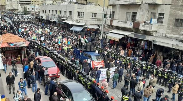 احتجاجات في الأردن رفضاً لصفقة القرن والغاز الإسرائيلي
